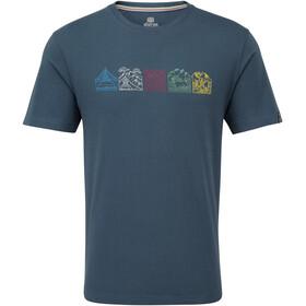 Sherpa Lungta Miehet Lyhythihainen paita , sininen
